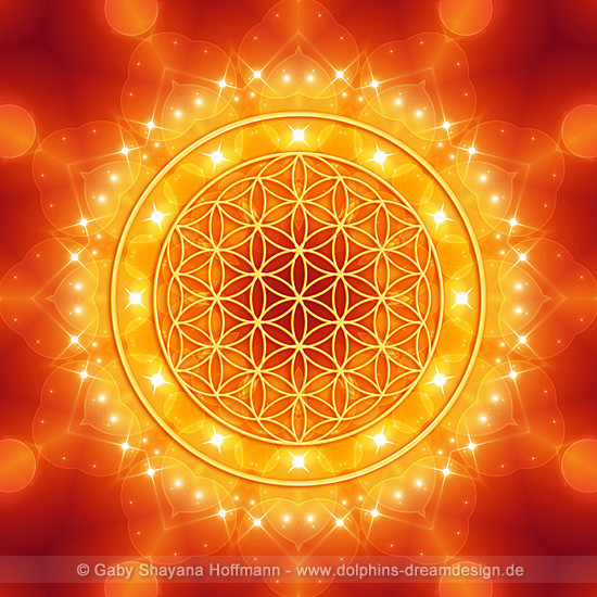 Blume des Lebens - Goldene LichtEnergie