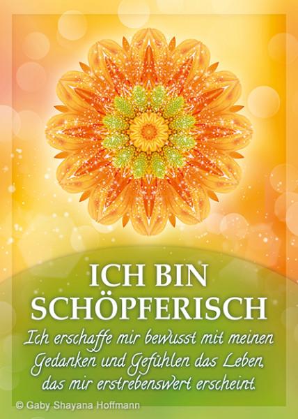 Postkarte - ICH BIN SCHÖPFERISCH