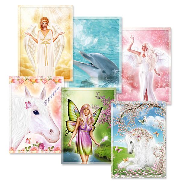 12 x Postkarten - Himmlische Lichtbegleiter - Sonderangebot