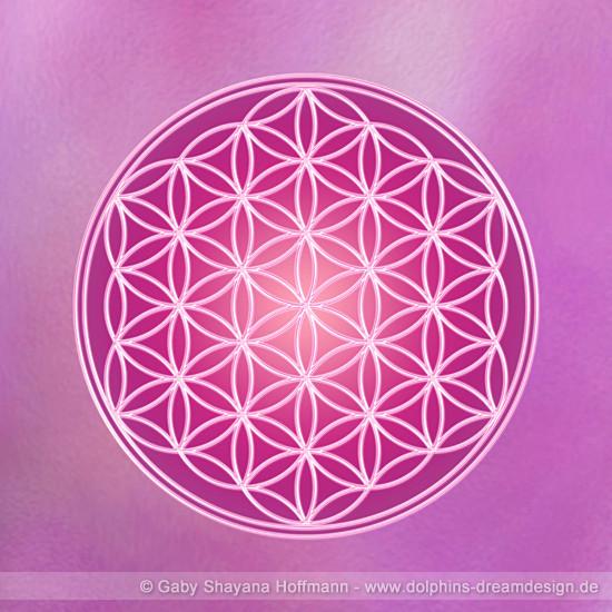 Blume des Lebens - Violette Flamme